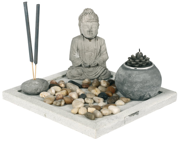 jardin zen bouddha avec encens. Black Bedroom Furniture Sets. Home Design Ideas