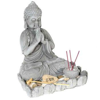 Jardin zen statue bouddha 26 5 cm de hauteur Statue jardin zen