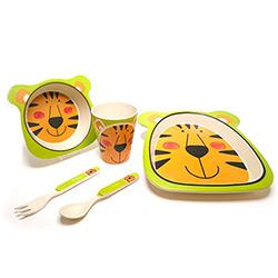 Coffret Vaisselle pour Enfant en Fibre de Bambou