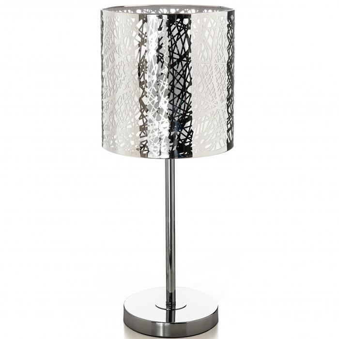 lampe avec pied en m tal abat jour style d coup. Black Bedroom Furniture Sets. Home Design Ideas