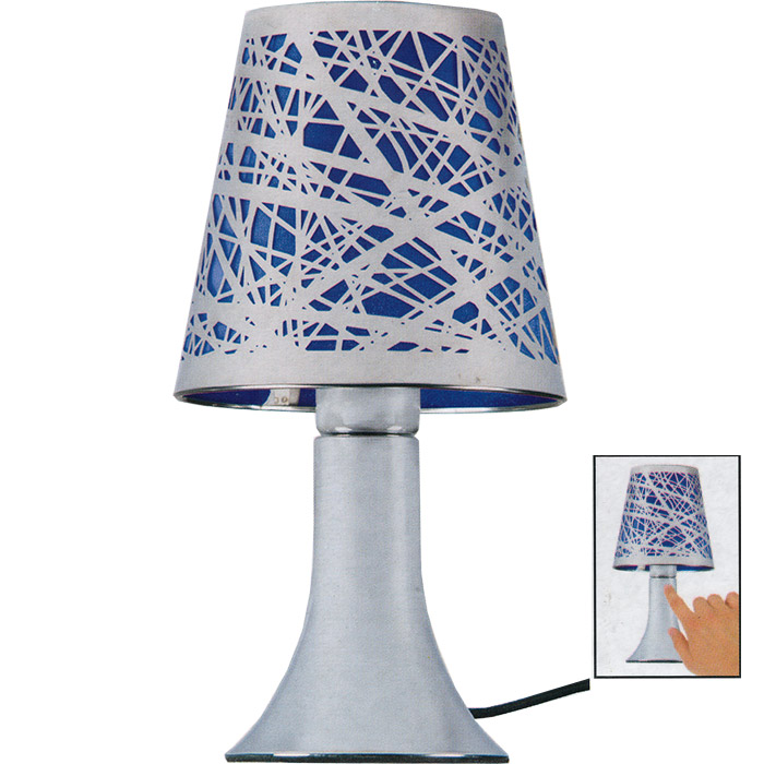 lampe touch tactile design m tal s 39 allume au toucher. Black Bedroom Furniture Sets. Home Design Ideas