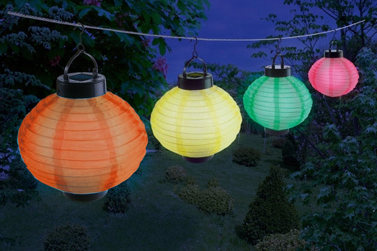 Lanterne Solaire Lampion 224 Led Boule Chinoise