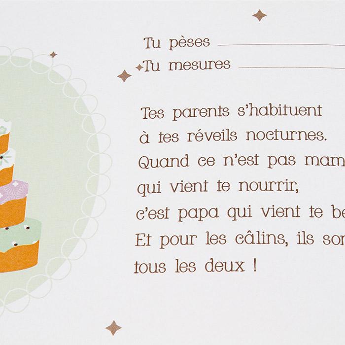 Livre De Naissance Bebe Fille Garcon 56 Pages Textes Photos