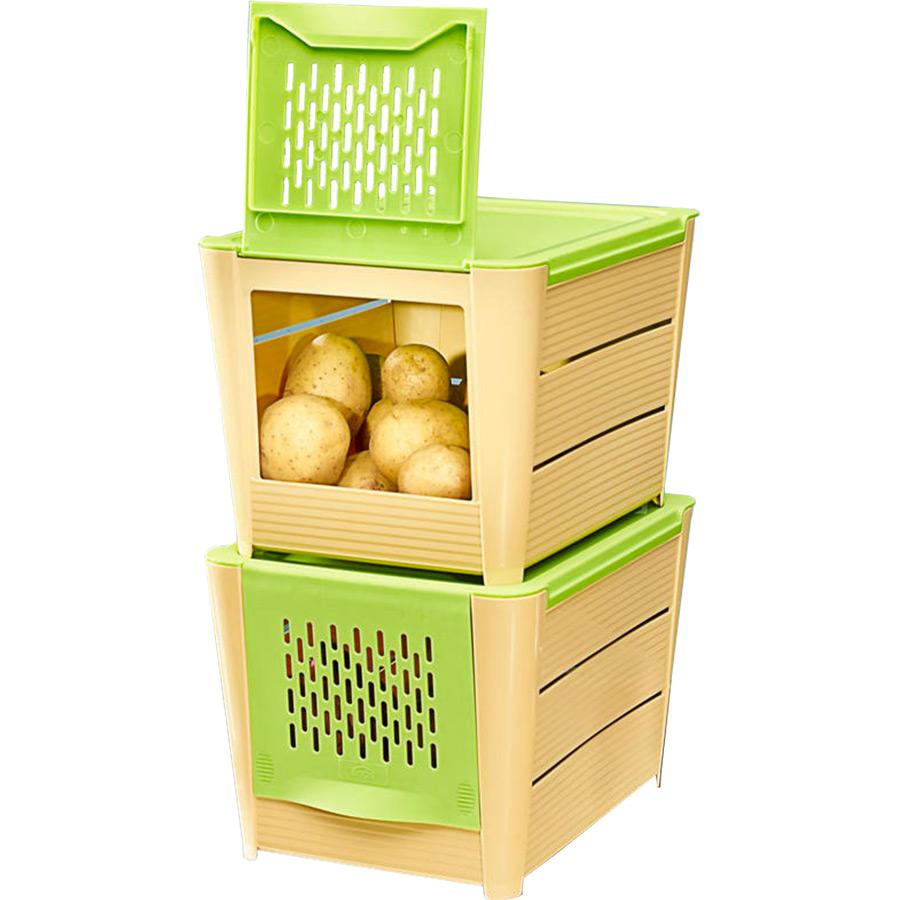 Boite A Pomme De Terre : lot de 2 boite de conservation pour pommes de terre ~ Teatrodelosmanantiales.com Idées de Décoration