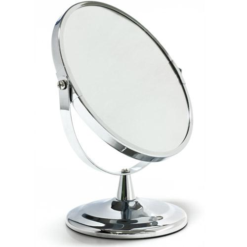 miroir de beaut grossissant sur pied avec face grossissante. Black Bedroom Furniture Sets. Home Design Ideas