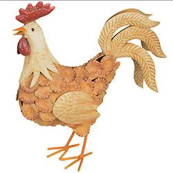 Coq Décoratif en Métal