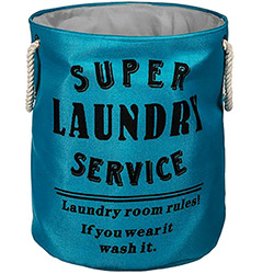 Panier à Linge Super Laundry Bleu Turquoise