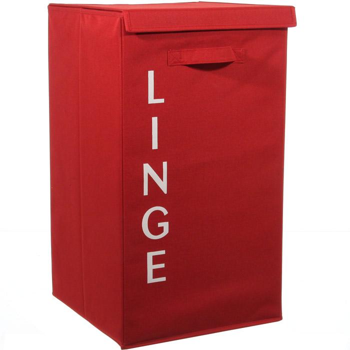 panier linge sale pliable coloris rouge grandes dimensions. Black Bedroom Furniture Sets. Home Design Ideas