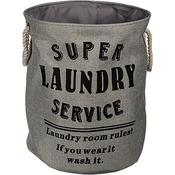 Panier à Linge Super Laundry Gris