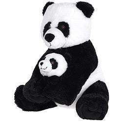 Peluche Panda Maman et Bébé