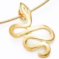 Pendentif Serpent plaqué Or