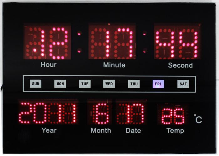 pendule digitale led calendrier avec heure date et temp rature