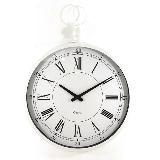 Horloge gousset pour d coration murale for Pendule blanche design