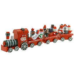 Train de Noël en Bois