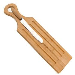 Planche à Pain en Bambou avec Couteau à Pain