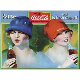 Plaque Métal Refresh Yourself Coca Cola 30x40 cm