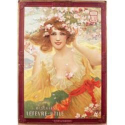 Carte Métal Biscuits LU Fleurs de Printemps 15x21 cm
