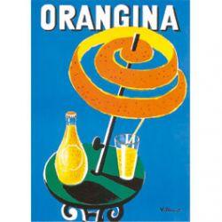 Plaque Métal Orangina 30x40 cm