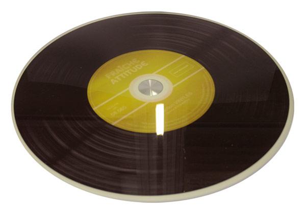 plateau tournant en verre design disque vinyle. Black Bedroom Furniture Sets. Home Design Ideas
