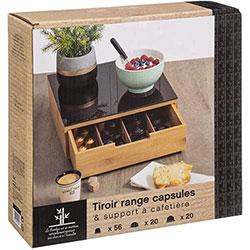 Tiroir Range Capsules de Café - En Bambou