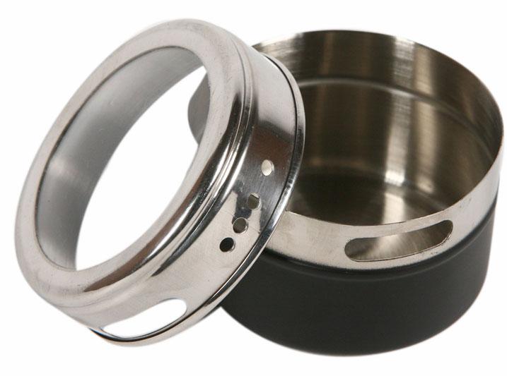 4 pots pices sur support magn tique. Black Bedroom Furniture Sets. Home Design Ideas