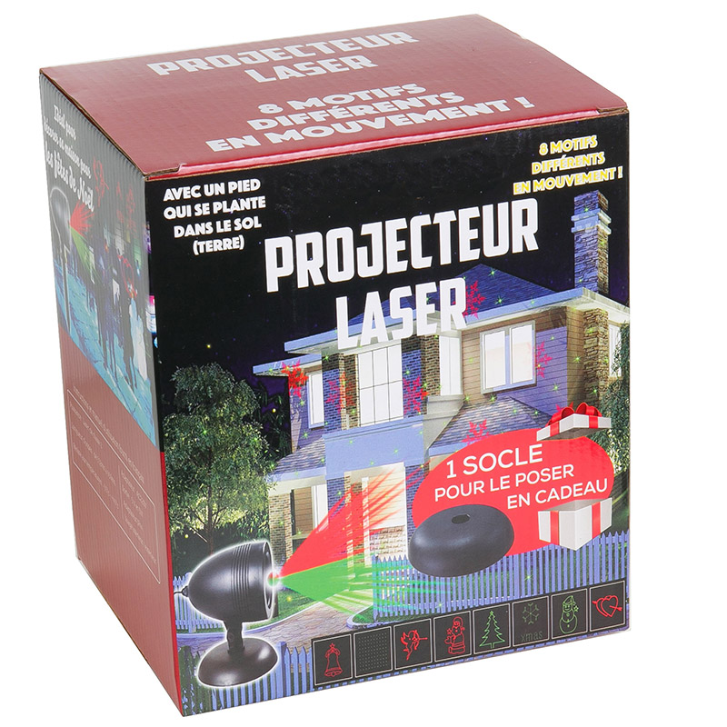 projecteur laser ext rieur no l cadeaux high tech. Black Bedroom Furniture Sets. Home Design Ideas