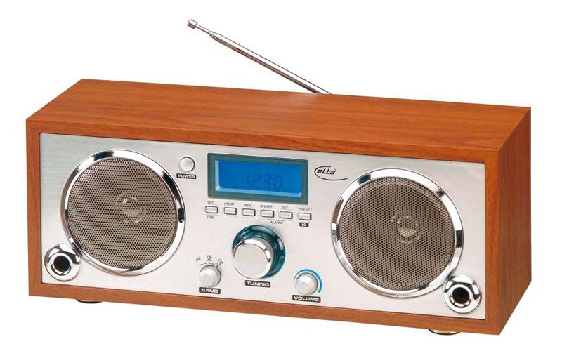radio r veil design avec affichage lcd et cadre bois. Black Bedroom Furniture Sets. Home Design Ideas