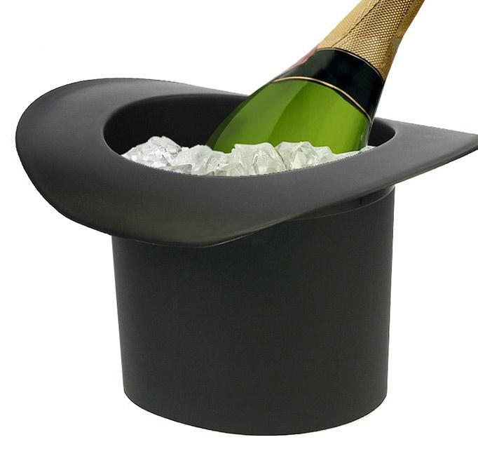 seau champagne chapeau disponible en blanc et noir. Black Bedroom Furniture Sets. Home Design Ideas