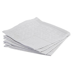 4 Serviettes de Table Jacquard Nid d'Abeille