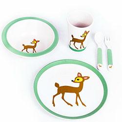 Coffret Vaisselle pour Enfant en Fibre de Bambou  - 5 pièces