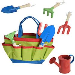 Set de Jardinage Enfant 5 pièces - Sac outils jardin - Vert