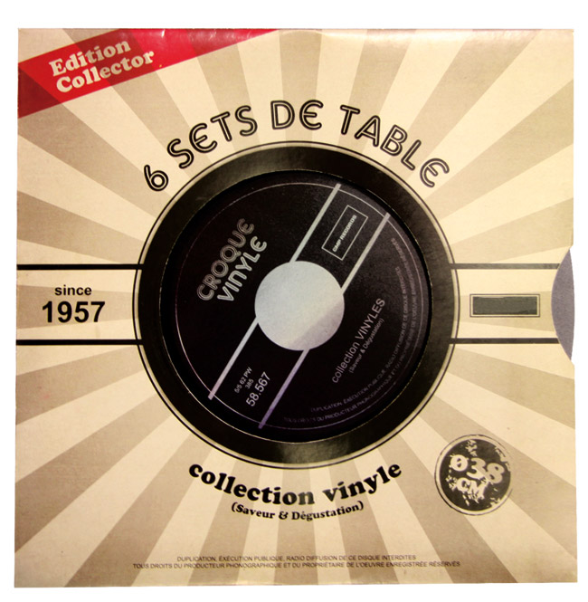 sets de table vinyle collector vintage fa on 33 tours. Black Bedroom Furniture Sets. Home Design Ideas