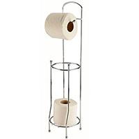 support papier toilettes m tal sur pied avec d rouleur wc. Black Bedroom Furniture Sets. Home Design Ideas