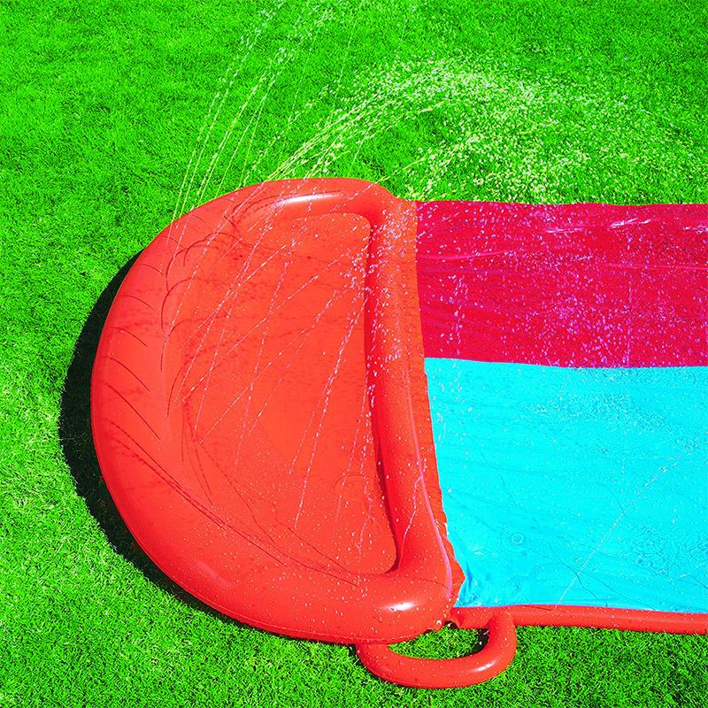 tapis de glisse xxl g ant double toboggan eau piscine avec aire lancement ebay. Black Bedroom Furniture Sets. Home Design Ideas