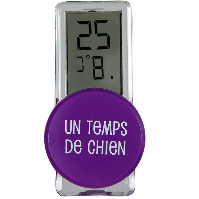 Thermom tre digital d 39 ext rieur violet ebay for Thermometre interieur precis