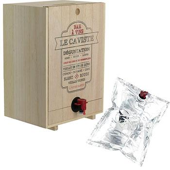 Distributeur de Vin en Bois - 5 Litres