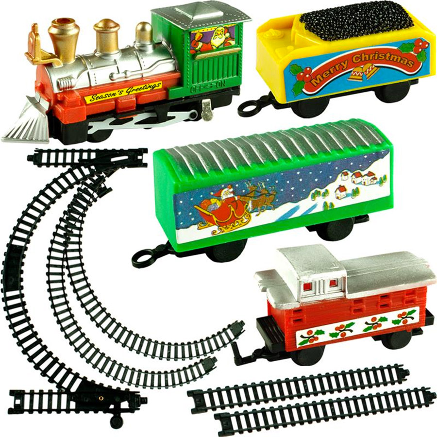 train lectrique de no l 9 pi ces train avec wagon p re noel sapin ebay. Black Bedroom Furniture Sets. Home Design Ideas