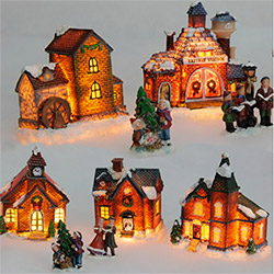 Grand Village de Noël 9 Pièces